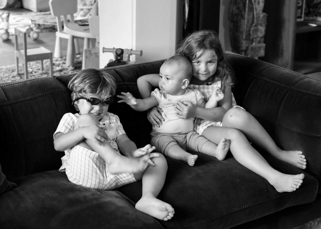 Zoé, Liv (4 ans), Adam (2 ans ½), Ellyn (7 mois)
