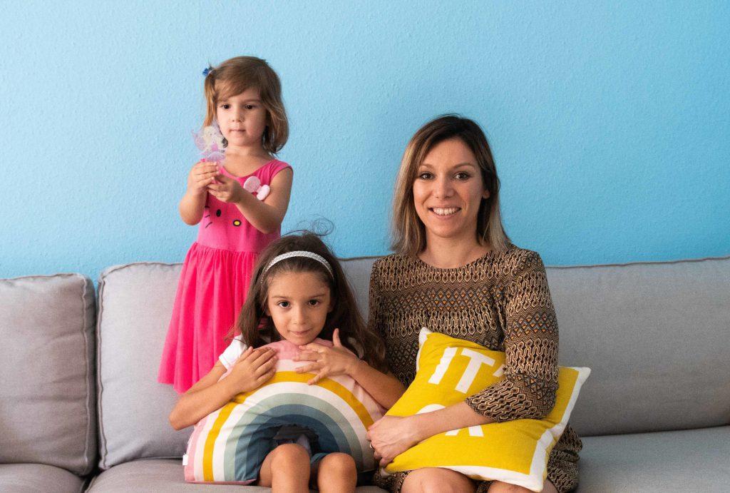 Céline (33 ans), Namie (6 ans), Eden (3 ans ½)